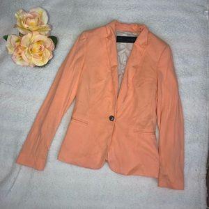 Zara Basic Orange Blazer Sz S